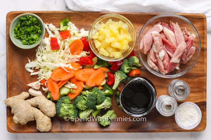 ingredients to make Pork Stir Fry
