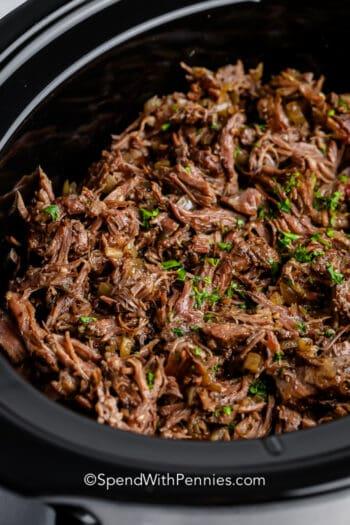 Beef Barbacoa in a crockpot