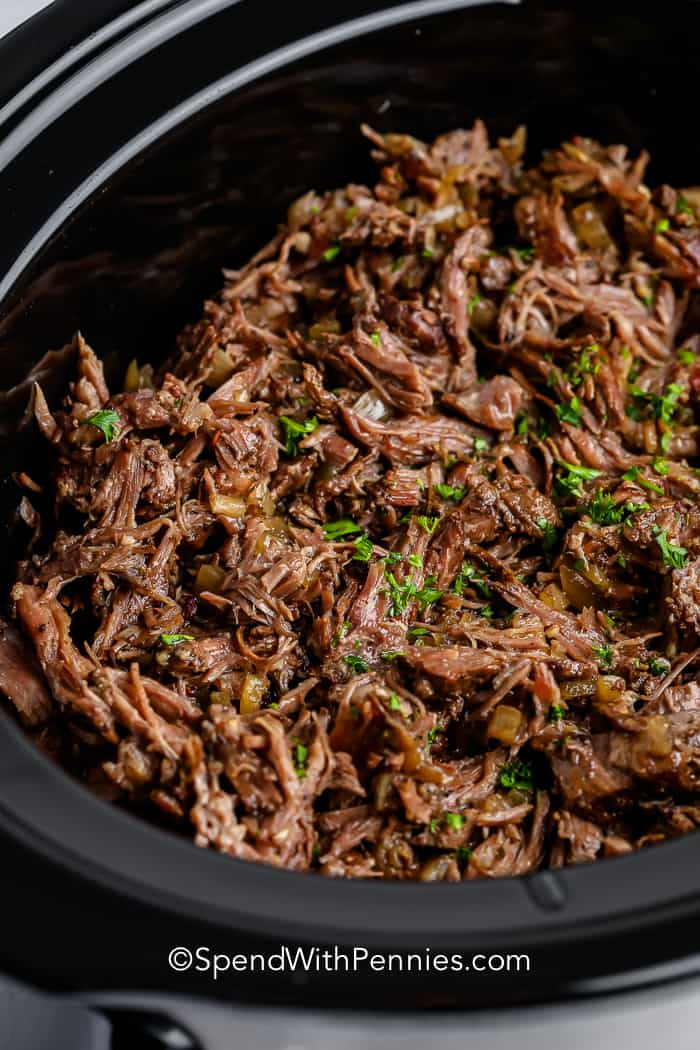 Beef Barbacoa in a crockpot