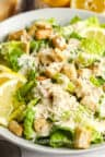 close up of Caesar Salad with dressing