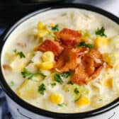 Chicken Corn Chowder in a bowl