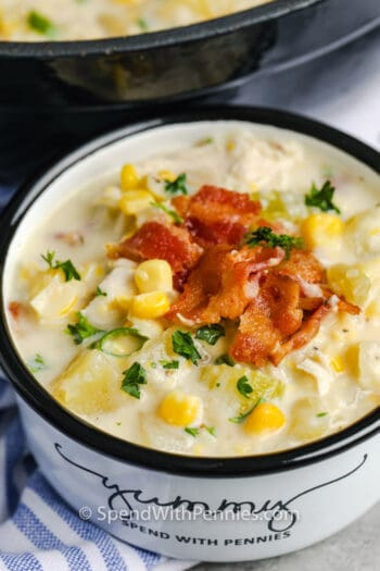 Chicken Corn Chowder in a bowl