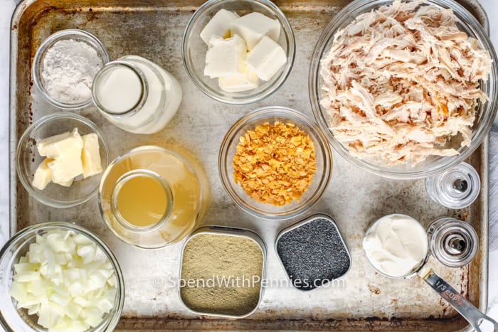 ingredients to make Poppy Seed Chicken