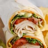close up of Turkey Wrap