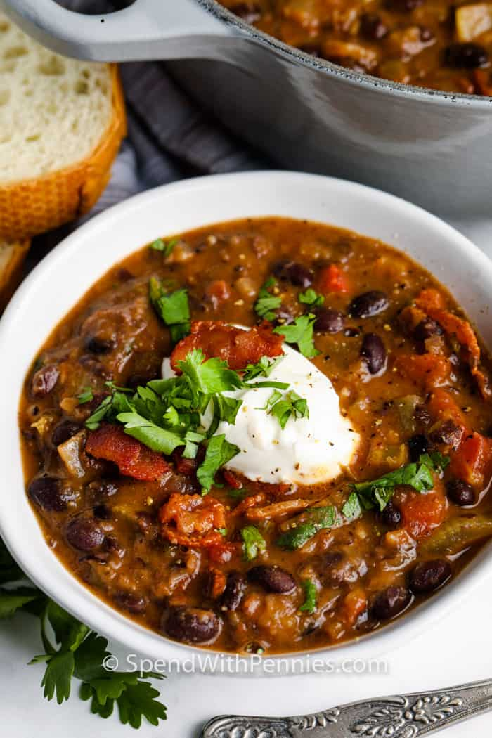 Black Bean Soup Freezer Friendly Spend With Pennies