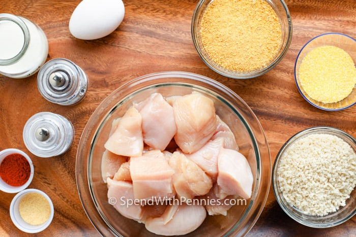 ingredients to make Chicken Nuggets