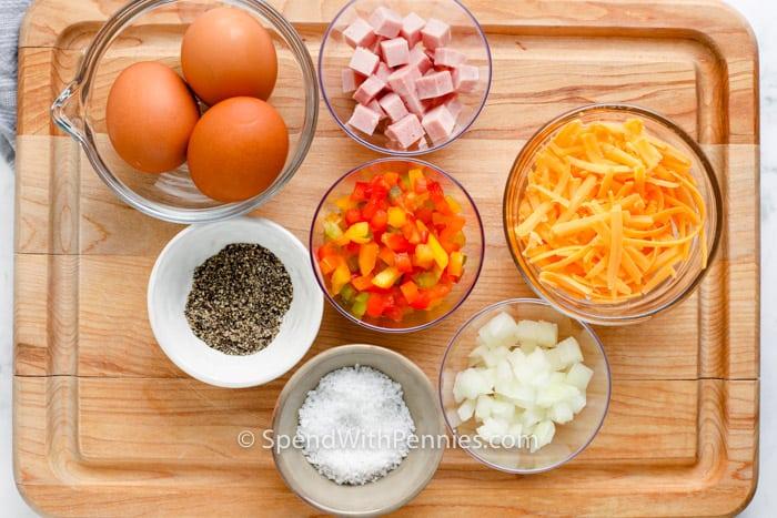 ingredients to make Denver Omelette