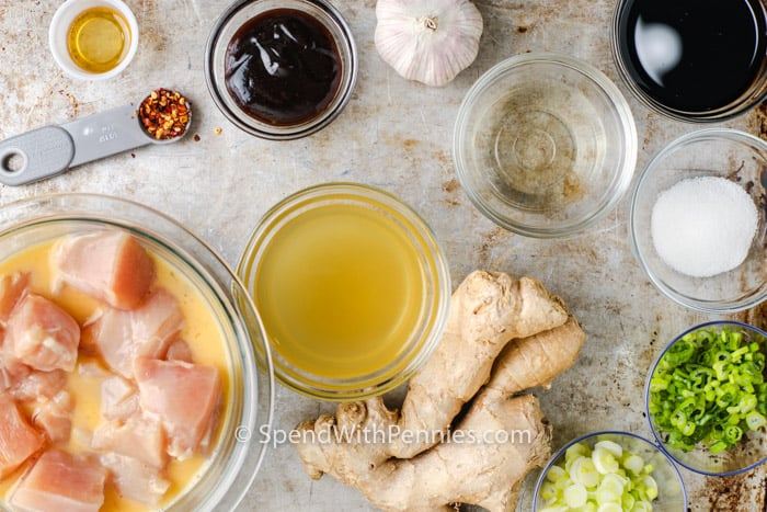 ingredients to make General Tso Chicken