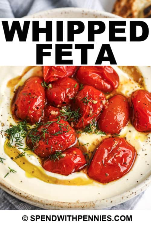 Whipped Feta with writing