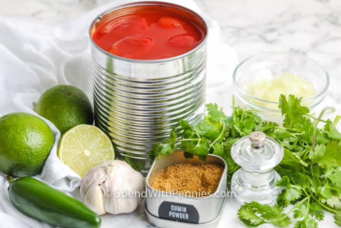 ingredients to make Homemade Salsa