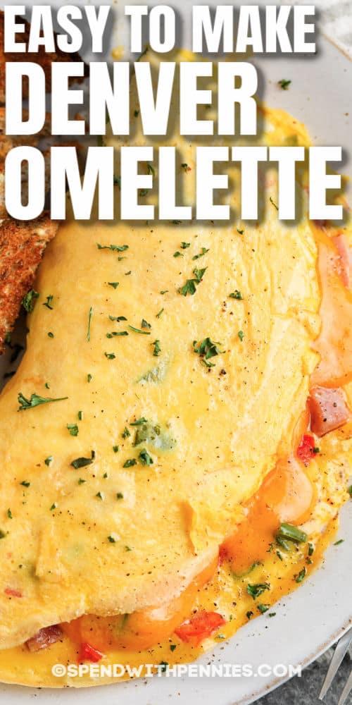 close up of Denver Omelet (Denver Omelette) with a title