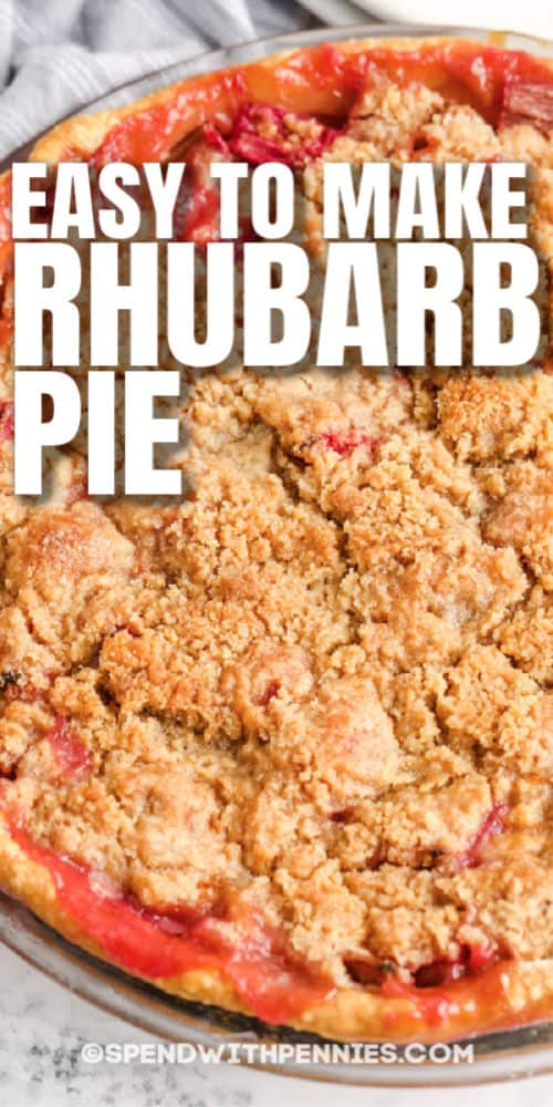 Rhubarb Pie with a title