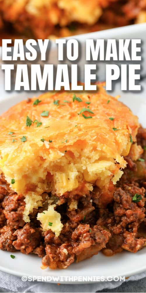 close up of Tamale Pie on a plate
