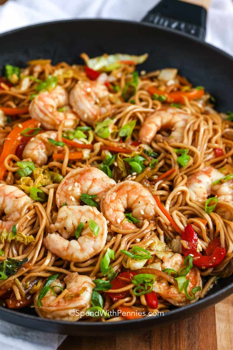 Shrimp Lo Mein 30 Minute Meal Spend With Pennies