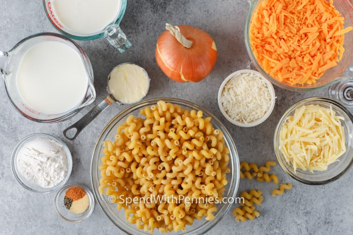 ingredients to make 3 Cheese Cavatappi
