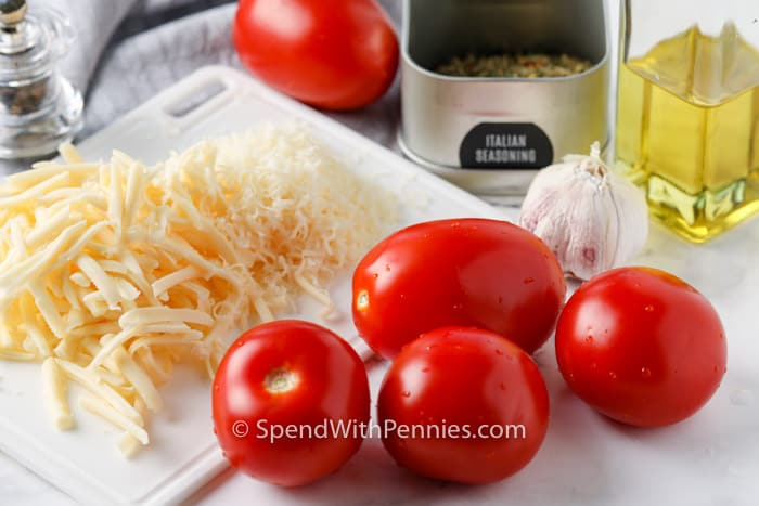 ingredients to make Broiled Tomatoes