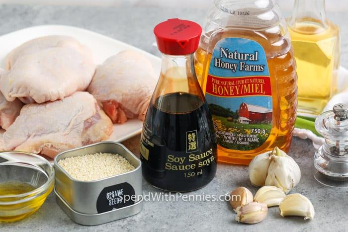 ingredients to make Honey Garlic Chicken