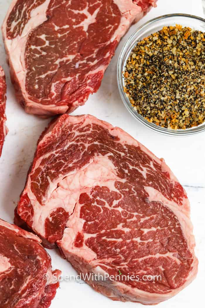 ingredients to show How to Cook a Perfect Ribeye Steak