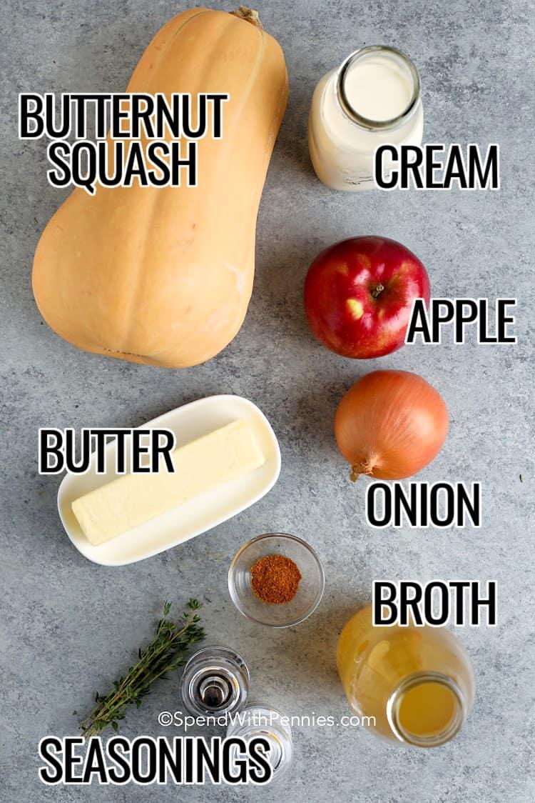 Ingredients Butternut Squash Soup