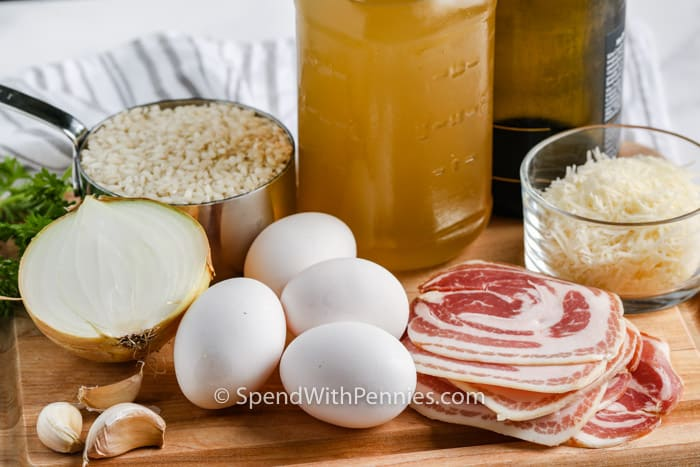 ingredients to make Instant Pot Risotto