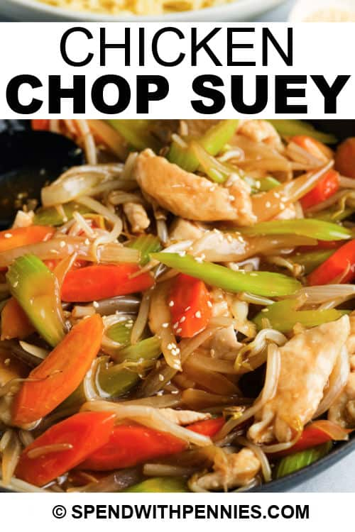 Chicken Chop Suey with a title