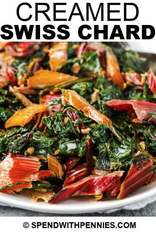 Creamed Swiss Chard with a title