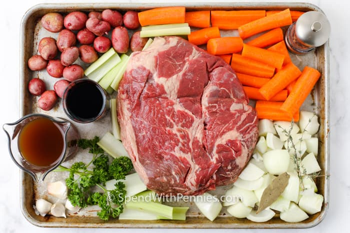 ingredients to make Pot Roast (Chuck Roast)