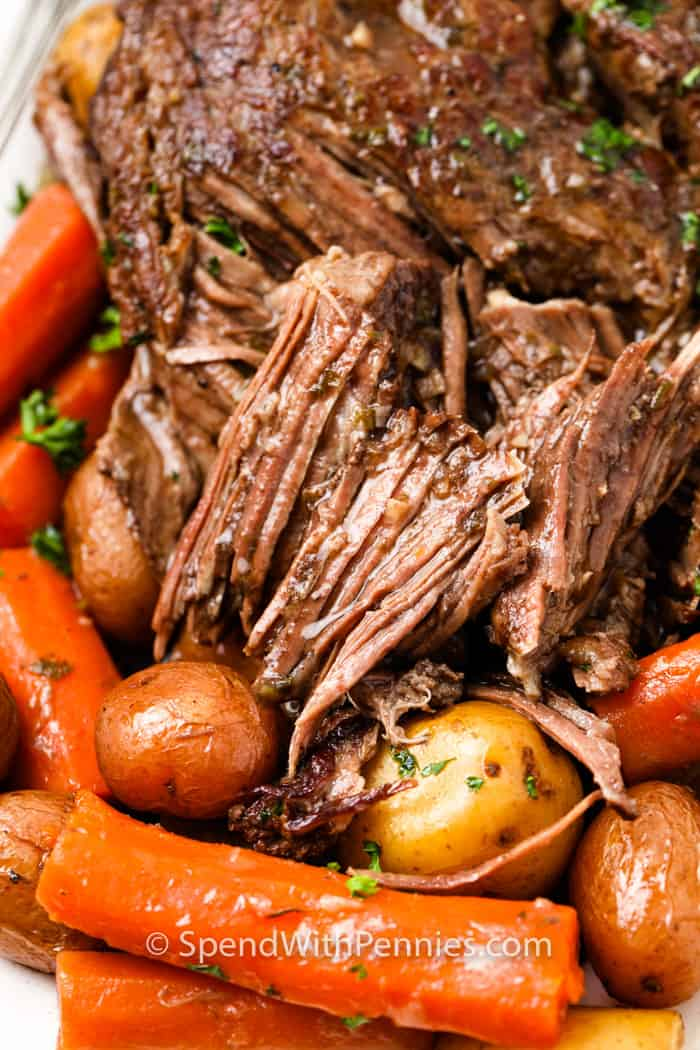 close up of a piece of Pot Roast (Chuck Roast)
