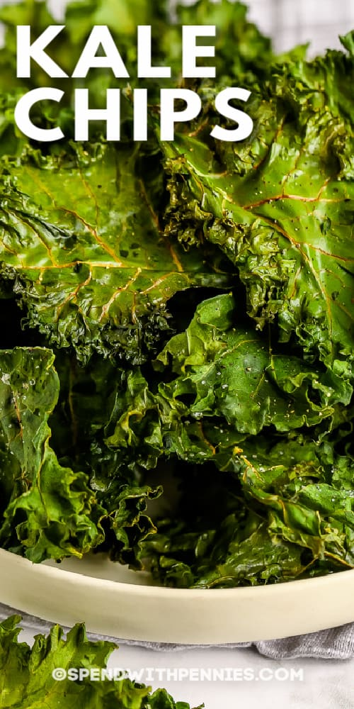 title and a bowl of Kale Chips