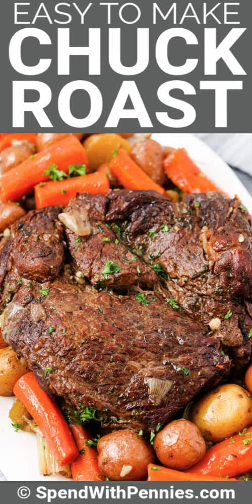 plated Pot Roast (Chuck Roast) with a title