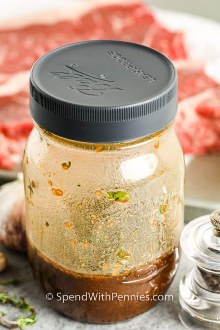 Steak Marinade in a jar