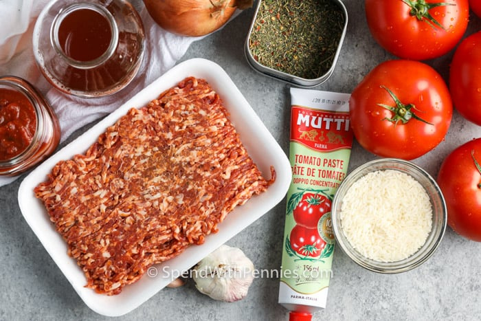 ingredients to make Stuffed Tomatoes