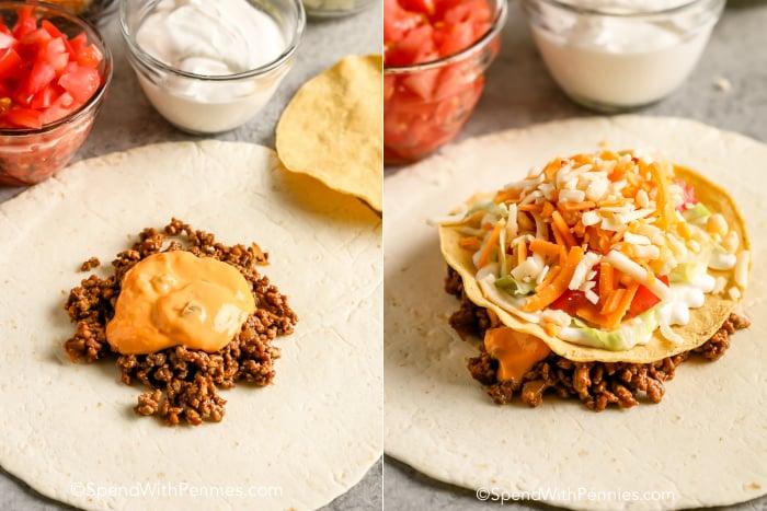 how to make a copycat Crunchwrap Supreme