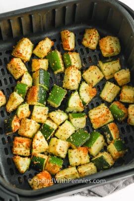 Air Fryer Zucchini in the air fryer