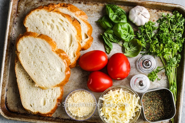 ingredients to make Broiled Tomato Sandwich