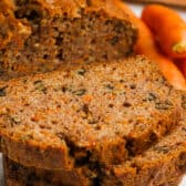 slices of Carrot Bread with bread in the background