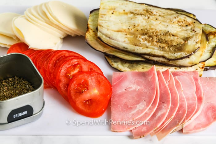 ingredients to make Eggplant Rollatini