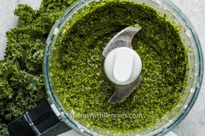 Kale Pesto after blending