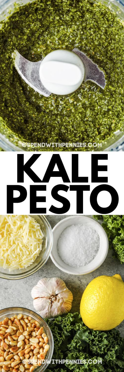 Kale Pesto with a title