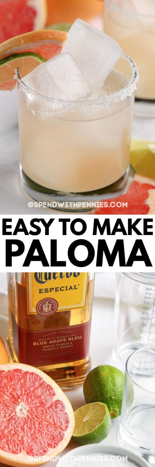 ingredients to make Paloma with a title