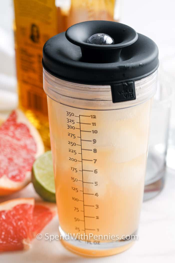 Paloma drink in a shaker