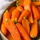 close up of Steamed Carrots