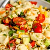 Tortellini Salad in a bowl