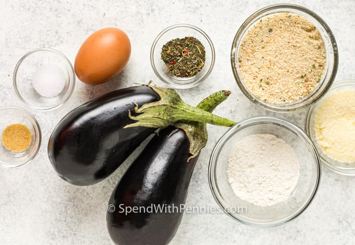 ingredients to make Air Fryer Eggplant