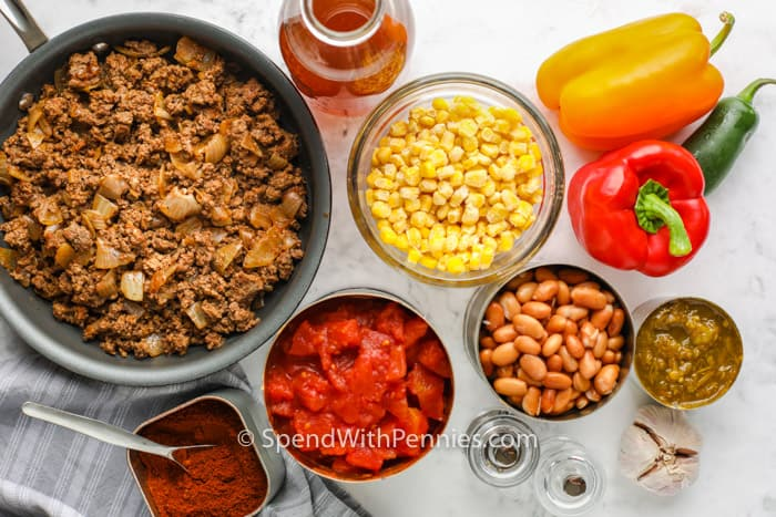 ingredients to make Crock Pot Taco Soup