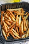 cooked Air Fryer French Fries in the air fryer