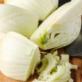 cutting up fennel to show How to Cut Fennel