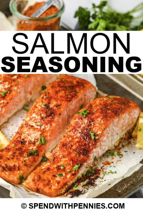 cooked salmon with Salmon Seasoning on top