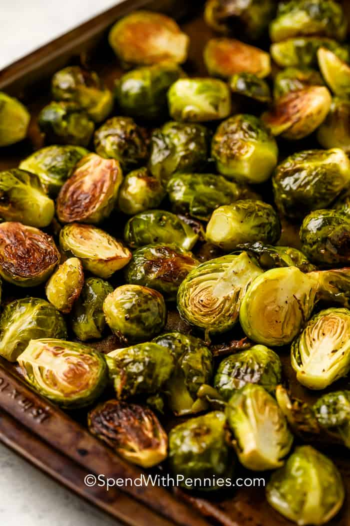 Roasted Brussel Sprouts Ready In 30 Minutes Spend With Pennies