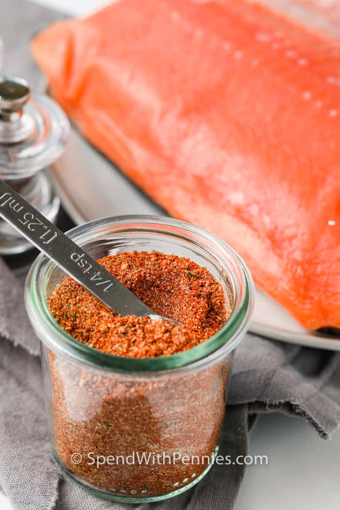 Salmon Seasoning in a jar